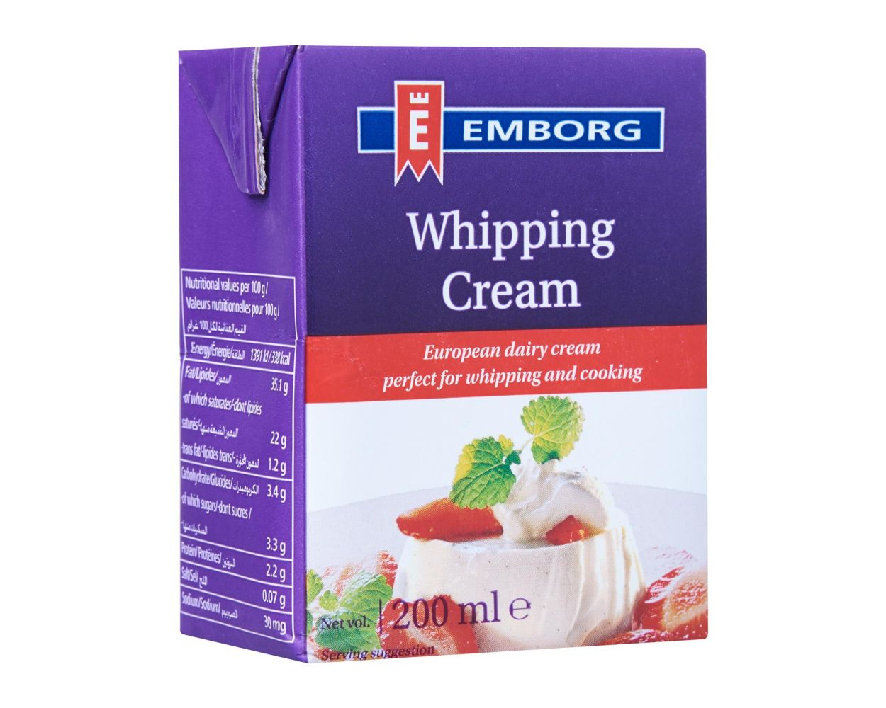 Emborg Whipped Cream UHT 200gm- 2 Hours Free Delivery Anywhere in Karachi Pakistan